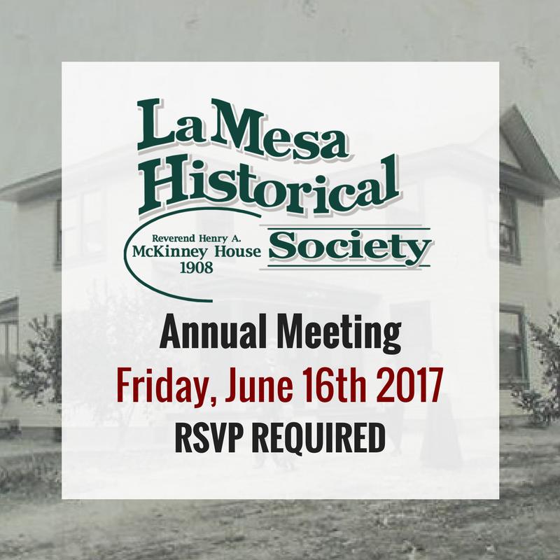 La Mesa Historical Society Annual Meeting