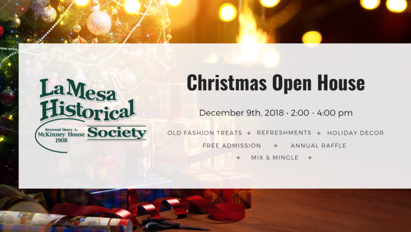Christmas Open House Event in La Mesa