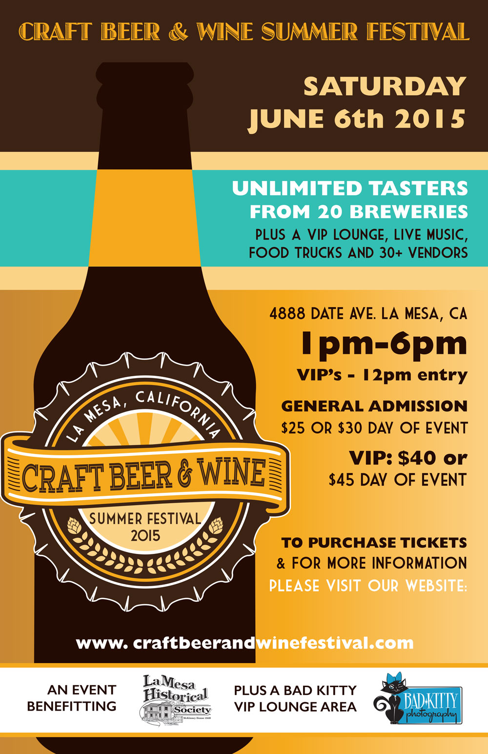 Craft Beer & Wine Summer Festival - La-Mesa - June 6, 2015